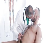 Doctor curing his patient