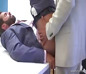 Stunning suited stud getting poked in the butt