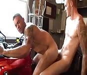 Herculean stud getting poked in the ass