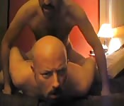Bald dude having anal sex with a stranger