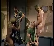 Hot and horny military gangbang