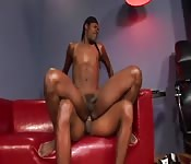 Dirty black teen getting screwed in the ass