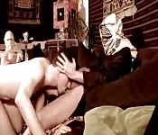 Masked men get nasty