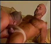 Tanned mature man face fucking his boyfriend