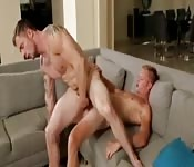 Muscle guys riding cock like little sluts