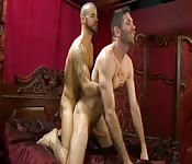 Tantalizing stud making love to his gorgeous boyfriend