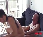 Tío delicioso taladra el culo de un guapo maromo