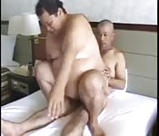 Fat and mature Japanese men