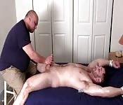 Hunk gets massaged