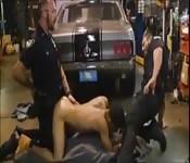 Gay police officers fuck criminal