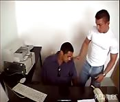 Brazilian guy fucks his boss