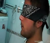 blindfolded blowjob and fuck