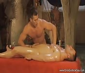 Sexy oiled massage with a side of handjob action