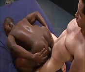 White guy fucking black ass