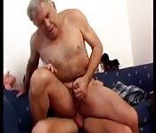 Grandpa rides dick