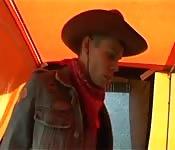 A hot cowboy joins a sexy couple