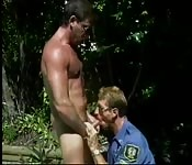 Caught wanking by a cop