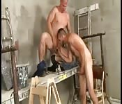 Insatiable guy getting his big cock sucked