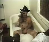 Cowboy peludo com vontade de gozar