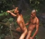 Anal interracial gostoso