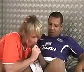 Trombata tra giocatori rivali di calcio