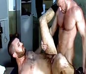 Good-looking man getting fucked in his hairy ass