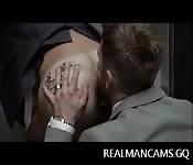 Hombres de negocios sexis anales