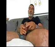 Hot hairy daddy in wanking solo