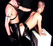 Gay men leather