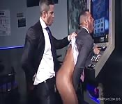 Stunning suit-clad hunk getting drilled in the ass
