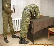 Gay Army Gets Spanked and Blowjob