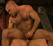 Herculean stud having anal sex