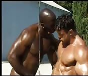 Encuentro interracial entre tíos cachas