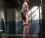 Straight guy goes gay BDSM session