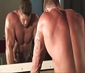 Body builder gay shows off his muscular body