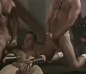 Group gay orgy toy fuck