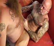 Kinky old man getting screwed by his bearded lover