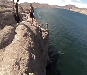 Gay Sex on a cliff