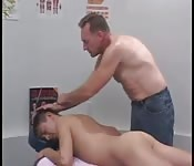 Massaging a cute twink
