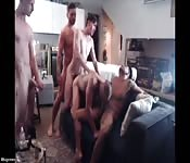 A home made orgy for your pleasure