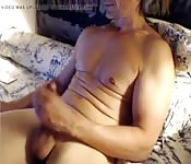Hunk with hot body in sexy solo