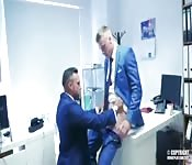 Anal fuck in office.
