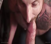 Cock sucking and ass fucking close ups