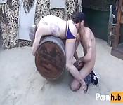 Dreckiger reifer Kerl bekommt das Arschloch geleckt
