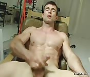 French stud in his forties jerks off