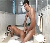Magnífico polvo en la bañera