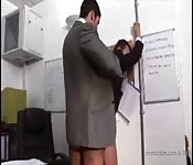 Suit wearing sex in the office