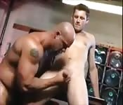 Teen getting his dick tugged by an older man