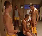 Jocks in the locker room can't wait