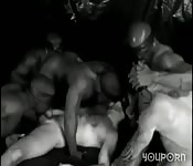 Sexe sauvage en noir et blanc